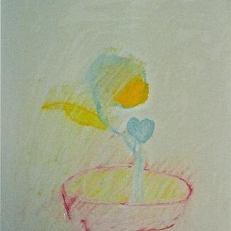 2002'bloempot met bloem' pastel