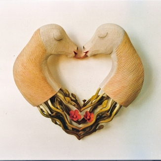 1997 'hartje mijn hart' lindenhout 50/50/18cm
