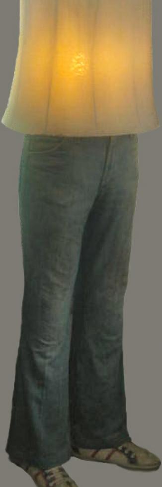 1979 'staande schemerlamp' h 120cm