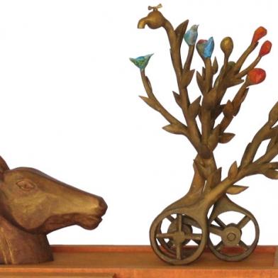 2010 maquette 'paard met bloemmachine' plein Hengelo