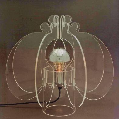 1976 tafellamp 'cauliflower plexiglas h.35cm