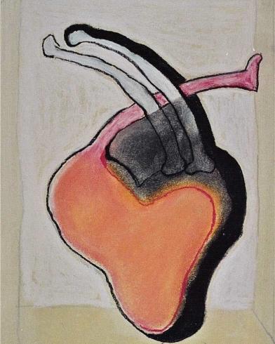 2003 'hart met aders' pastel