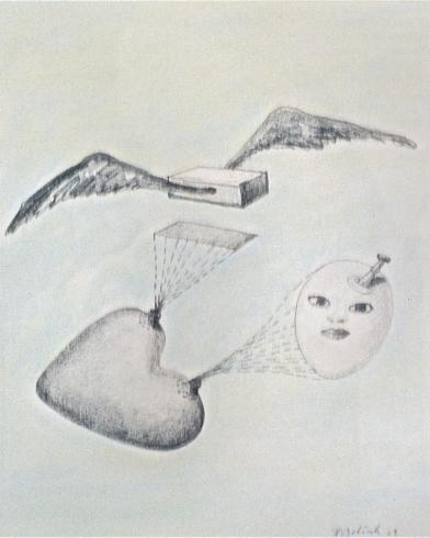 2003'vliegende baksteen' tekening