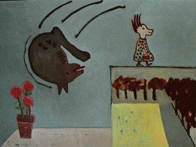 1988/89 still going strong oil on canvas 135/180cm