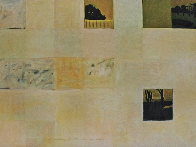 1990/91 in the evening when the sun goes down oil on canvas 130/175cm